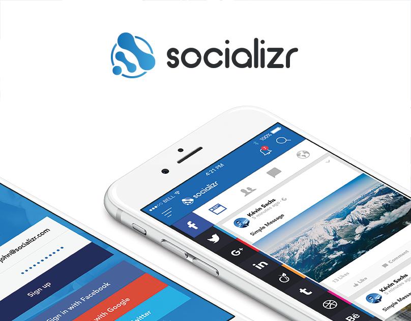 Socializr – Brand Identity & UI